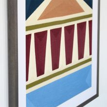 Post Haste Framed Geometric Embroidery 28W X 28H