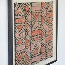 Shoowa Kuba Cloth Design Textile 28W X 28H