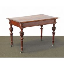 Vintage Jacobean Style Library Table