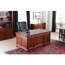 Weathered Cherry Executive Desk