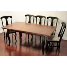 Black Rectangular Dining Table with Cherry Top