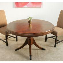 Hazelnut Deco Round Dining Table
