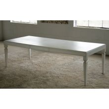 Gustavian Dining Table in Stucco White