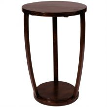 Bowed Ebony End Table