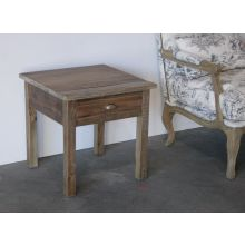 Bleached Pine End Table