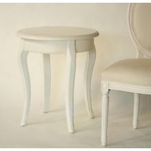 Antique White French Style Round End Table