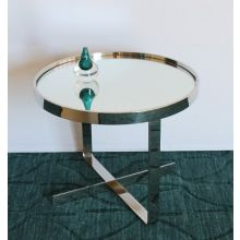 Medium Mirror Top End Table