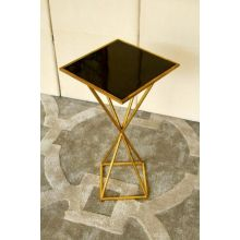 Geometric Hourglass End Table