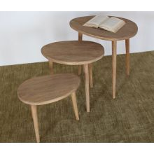 Hardwood Nesting Tables in Natural Finish