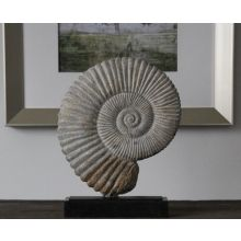 Fossil Marble & Iron Shell Sculpture - Cleared Decor