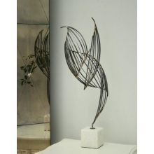 Bird Like Iron/Marble Sculpture - Cleared Decor