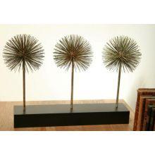 Three Dandelions Iron Sculpture - Cleared Décor