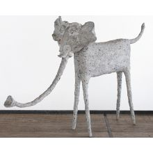Trunk Down Elephant Statue - Cleared Décor