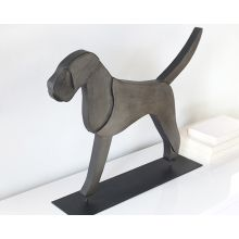 Large Flat Dog Figurine - Cleared Décor