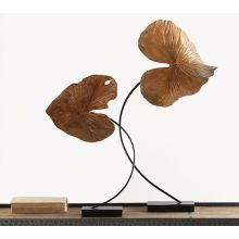 Small Carved Leaf Sculpture - Cleared Décor