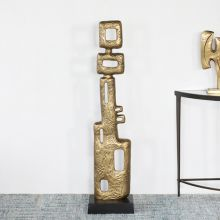 """50"""" High Gold Abstract Sculpture - Cleared Decor"""