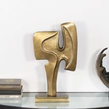 """16.5""""H Gold Abstract Sculpture - Cleared Decor"""