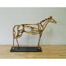 Gold Leaf Arabian Horse Statue - Cleared Décor