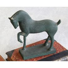 Cast Metal Horse Sculpture