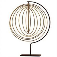 Endless Circles Brass Sculpture - Cleared Décor