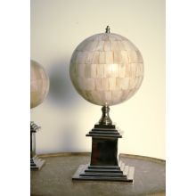 Large Faux Ivory Sphere with Nickel Base