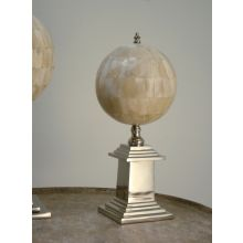 Small Faux Ivory Sphere with Nickel Base