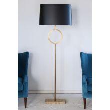 Logan Floor Lamp with Black Shade
