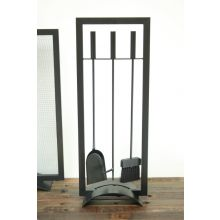 Black Fireplace Tool Set