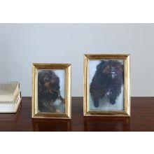 Set of 2 Gold Leaf Photo Frames - 4x6 and 5x7