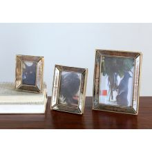 Set of 3 Antiqued Mirrored Picture Frames - 4W x 5H, 5W x 6H, 6W x 8H