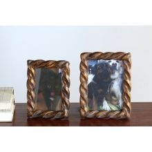 Set of 2 Sculpted Gold Twist Picture Frames - 4x6 and 5x7