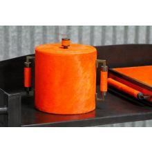 Orange Horsehair Ice Bucket
