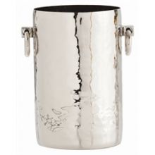 Tall Hammered Metal Container