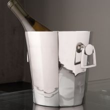Octagonal Ice Bucket with Handles