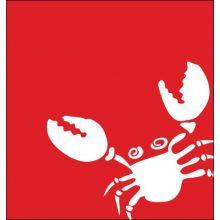Abstract Marine Life Crab 15W X 15H