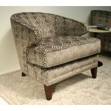Diamond Pattern Cut Velvet Lounge Chair