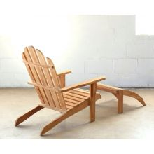 Teak Adirondack Chair With Ottoman