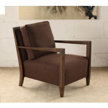 Brown Contemporary Lounge Chair