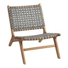 Gray Strap Outdoor Lounge Chair