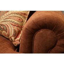 Cinnamon Rolled-Arm Club Chair