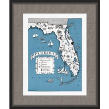 Illustrated Map of Florida 21.5W x 26H