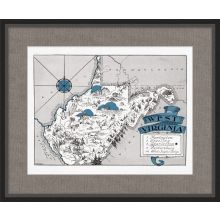 Illustrated Map of West Virginia 26W x 21.5H