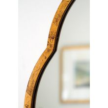 Antiqued Gold Leaf Iron Moroccan Mirror