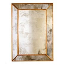 Antique Mirror With Gold Leaf Edging