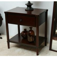 Dark Tobacco Nightstand with Drawer