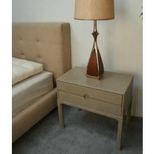 Chelsea Textiles Classic Bedside Table in Custard Finish