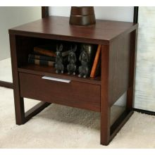 Espresso Nightstand with Drawer