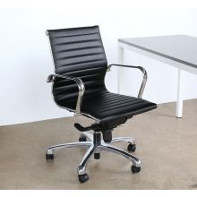 Eames Style Mid Back Black Desk Chair