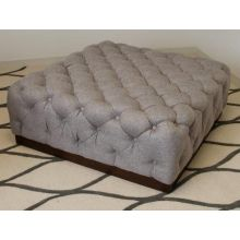 Tufted Cocktail Ottoman in Pewter