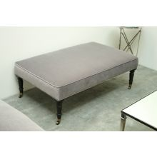 Gray Velvet Cocktail Ottoman